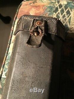 Civil War Rare U. S. Blakeslee Cartridge Box For A Civil War Spencer Carbine
