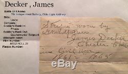 Civil War Reg Quartermaster Artillery Sergeant Chevron Original & Identified
