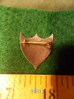 Civil War Sutler Coin Silver Badge, One Heart, One Way Engraved Motto, T Bar