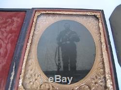 Civil War Tintypes, Photo's, Ephemera, Grave Marke of Union Soldier John W. Hill