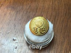 Civil War Topographical Engineers Old English TE with Shield Coat Button