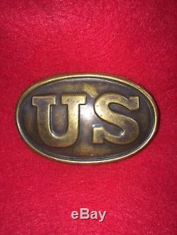 Civil War US Buckle Non Dug Marked W. H. Smith Dr. Sherwood Collection