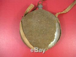 Civil War US Pattern 1858 Canteen Smooth Side Style with Wool Cover & Canvas Sling