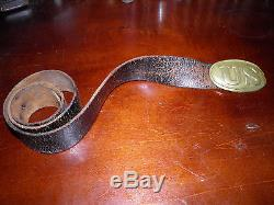 Civil War U. S. Soldiers Belt Plate WithCivil War Era Leather Belt