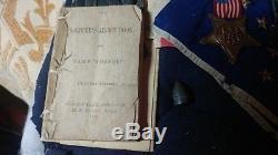 Civil War Valor Hooker Medal grouping 5th NJ Vol Co H John M Sutton Gettysburg
