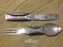 Civil War W. M. Richards sliding eating utensils