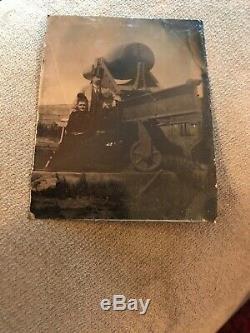 Civil war Era 1/6 Plate Tintype Artillery Cannon