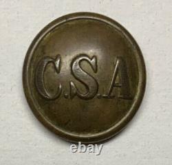 Confederate Army General Service Civil War Coat Button Rare Backmark
