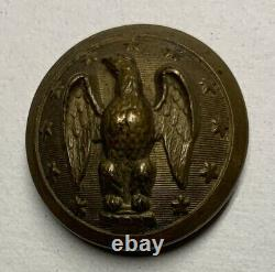 Confederate Army Officers Civil War Coat Button Rare Backmark
