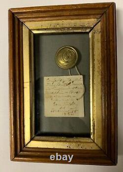 Confederate Cavalry Manuscript C Civil War Coat Button