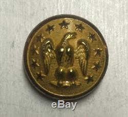 Confederate Civil War Staff Cuff Button