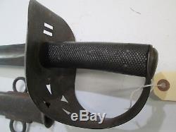 Confederate Us Cavalry Import CIVIL War Sword Wi Scabbard Mole Makers Mark #m232