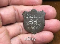 Dug Chas Clemens Co. A 34th Regt. N. J. Vols. Civil War Identification Shield