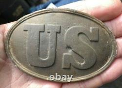 Dug Civil War US Belt Plate Arrow Hooks Hoovers Gap Tennessee