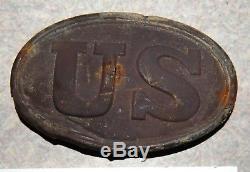 Dug Civil War US Cartridge Box Plate Falmouth Virginia