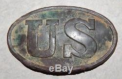 Dug Civil War US Cartridge Box Plate Mechanicsville Virginia 7 Days Battle