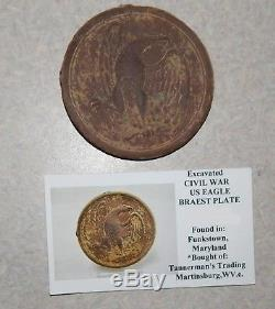 Dug Civil War US EAGLE BREAST PLATE Funkstown Maryland