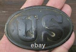Dug Civil War Union US Belt Plate Winchester VA. Ex Harry Ridgeway