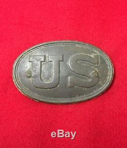 Dug US Cartridge Box Plate Buckle Civil War Relic Union Trench Cold Harbor VA