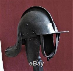 ECWith English Civil War lobster pot helmet Zischagge 17th c. ORIGINAL, MINT 1630