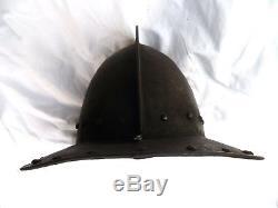 ENGLISH CIVIL WAR PIKEMAN'S POT EUROPEAN HELMET ARMOUR HELM ARMOR mace sword