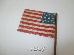 EXTREMELY RARE 1860's CIVIL WAR 13 STAR PARADE FLAG