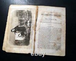 EXTREMELY RARE American Civil War Era The Soldier's Casket 1865 Phila Magazine
