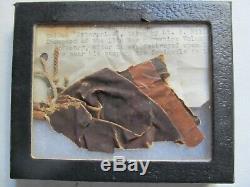 EXTREMELY RARE Piece of CIVIL WAR Balloon, Prof Lowe, Peninsula Va, 13th NH, GAR