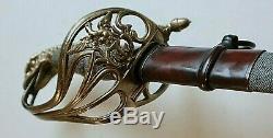 Early CIVIL War Naval Horstmann Confederate Eagle Head Officer Sword Ca 1845
