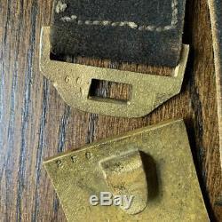 Early Civil War Brass Pattern 1851 NCO Eagle Wreath Buff Belt Plate Buckle