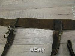 Early US Civil War Artillery Officers Belt and Buckle with Sword Hangers Intact