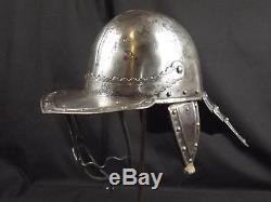 English Civil War Mid 17th Century 3 Bar Lobster Tailed Pot Helmet