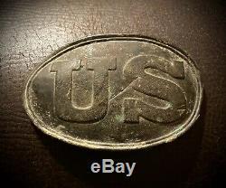 Excavated Civil War Puppy Paw US Belt Plate