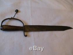Fantastic Confederate CIVIL War D Guard Bowie Knife