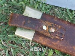 G. Wostenholm antique Bowie knife c. Late 1850's to'60's. Civil War probably