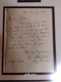 Gen George McClellan Civil War Date Letter Signed To Civil War Surgeon 1863