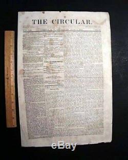 Historic BATTLE OF GETTYSBURG Union Victory vs R. E. Lee 1863 Civil War Newspaper