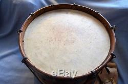 Indian Wars or Late Civil War Era Military Drum, Complete with Sling