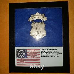 Investment Grade Civil War 4th Corps Ladder Badge 49th Ohio James M. Dennison