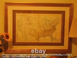 Large Original Antique Civil War Map CINCINNATI Ohio BOWLING GREEN Covington OH