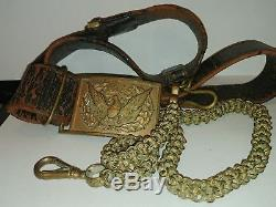 M1851 Officers Sword Belt Civil War Era Militia