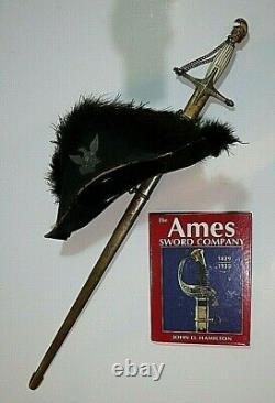 Mexican War CIVIL War Militia High Officer Ames Chapeau De Bras Hat Not Sword