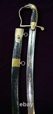 Mexican War CIVIL War Widmann Horstmann Marine Corps Type I Eagle Head Sword