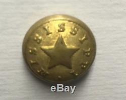 Mississippi Cuff Civil War Button. Very Rare