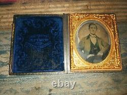Named Civil War Soldier Tintype & Ambtotype With Cases
