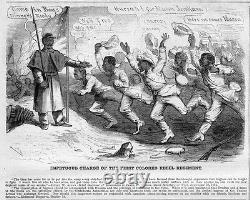 Negro CIVIL War Charge Of The First Colored Regiment Rebel Negroes Soldiers