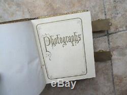 Nice Antique 1850 Antebellum Carte de Visite /Tintype Photo Album, Civil War