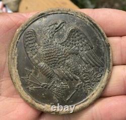 Nice Dug Civil War Eagle Breastplate with Both Loops Seven Days Battle VA