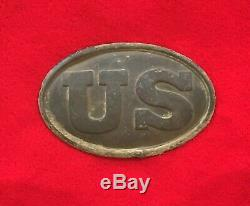 Nice Dug Civil War US Belt Buckle Plate Relic Battle Weldon Railroad Petersburg