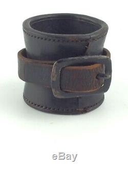 ORIGINAL CIVIL WAR 1860 US CAVALRY SADDLE CARBINE leather THIMBLE SOCKET BOOT